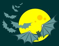 Flying bats Royalty Free Stock Images