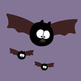 Flying Bats Stock Images