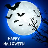Flying bats in Halloween night. Illustration of Flying bats in Halloween night Royalty Free Stock Image