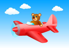 Flying bear Stock Image