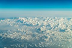 Flying Through Beautiful Landscape Of Earth Clouds royalty free stock image