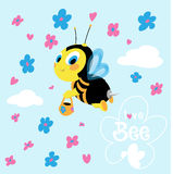 Flying bee Royalty Free Stock Images