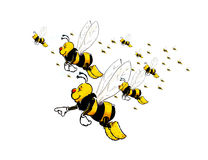Flying Bees Stock Images