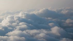 Flying betweeen clouds stock video footage