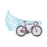 Flying bicycle Stock Photo