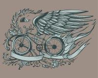 Flying bike Stock Photo