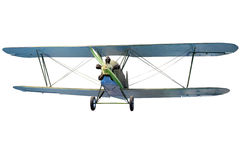 Flying biplane Stock Photography