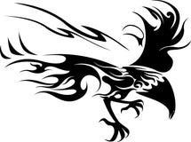 Flying bird. Black and white illustration of flying bird Stock Photos