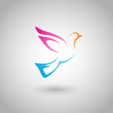 Flying bird. (vector object); web icon or logo template Royalty Free Stock Images