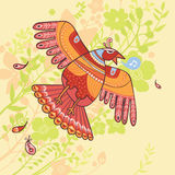 Flying bird background Stock Photo