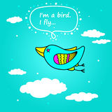 Flying bird. Royalty Free Stock Photography