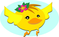 Flying Bird with Flower Royalty Free Stock Images