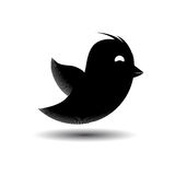 Flying bird icon isolated. Vector illustration. Flying black bird icon isolated. Vector illustration Royalty Free Stock Photography