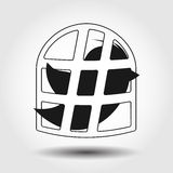 Flying bird icon isolated. Vector illustration. Flying bird covered with hashtag icon isolated. Vector illustration Stock Image