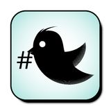 Flying bird icon isolated. Vector illustration. Flying bird icon isolated on nice background. Vector illustration Stock Image