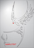 Flying Bird Illustration Royalty Free Stock Images