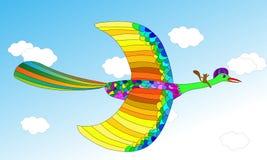 Flying bird illustration Stock Photos