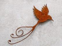 Flying bird made of metal Royalty Free Stock Photo
