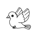 Flying Bird Outline (Ready to Perch) Stock Image