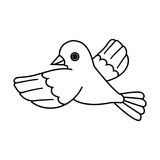 Flying Bird Outline (Take Off) Stock Image