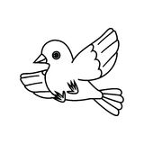 Flying Bird Outline (Take Off) 2 Royalty Free Stock Photos