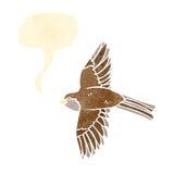 flying bird retro illustration Stock Photography
