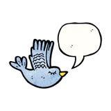 flying bird with speech bubble Stock Photos