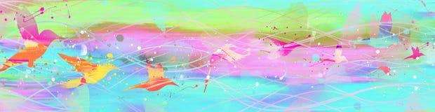 Flying bird. Summer abstract watercolor flying bird vector illustration