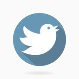 Flying Bird Vector Icon With Flat Design Royalty Free Stock Photography