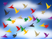 Flying Birds Means Break Out And Elude Royalty Free Stock Photos