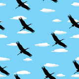 Flying birds pattern Royalty Free Stock Image