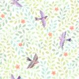 Flying birds pattern Stock Image