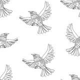 Flying birds pattern Royalty Free Stock Photos