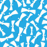 Flying birds  seamless pattern Royalty Free Stock Images