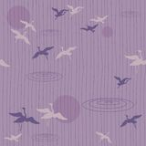 Flying birds- seamless pattern Royalty Free Stock Images