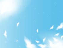 Flying birds in the sky Royalty Free Stock Photo