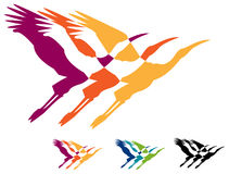 Flying birds Stock Image