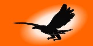 Flying eagle with orange background royalty free illustration