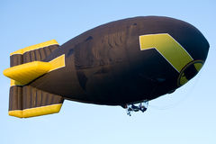 Flying blimp Royalty Free Stock Images