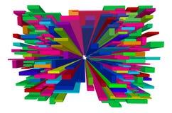 Flying Blocks Design Element. Flying 3d colored blocks design element Stock Image