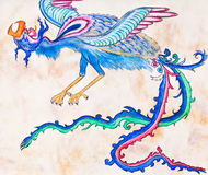 Flying blue dragon Royalty Free Stock Photos