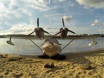 Flying boat Stock Photo