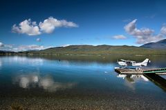 Flying boat on the Lake Te Anau Royalty Free Stock Photos