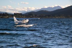Flying boat on the Lake Te Anau Royalty Free Stock Photos