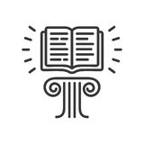 Flying Book - modern vector single line icon Royalty Free Stock Photography