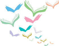 Flying books Stock Photography