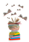 Flying books Royalty Free Stock Photo