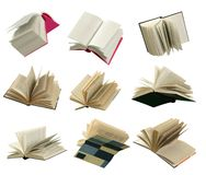 Flying books Stock Image