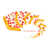 Flying boomerang illustration Royalty Free Stock Image