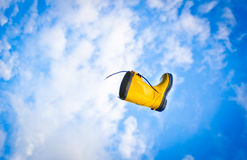 Flying boot Royalty Free Stock Images